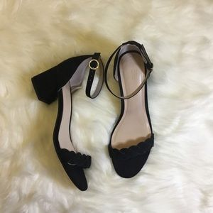 H&M Suede Block Heels Sandal | New without tag